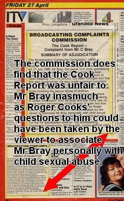 The BCC printed apology to Mr Bray in TV mag 27 April 1990
